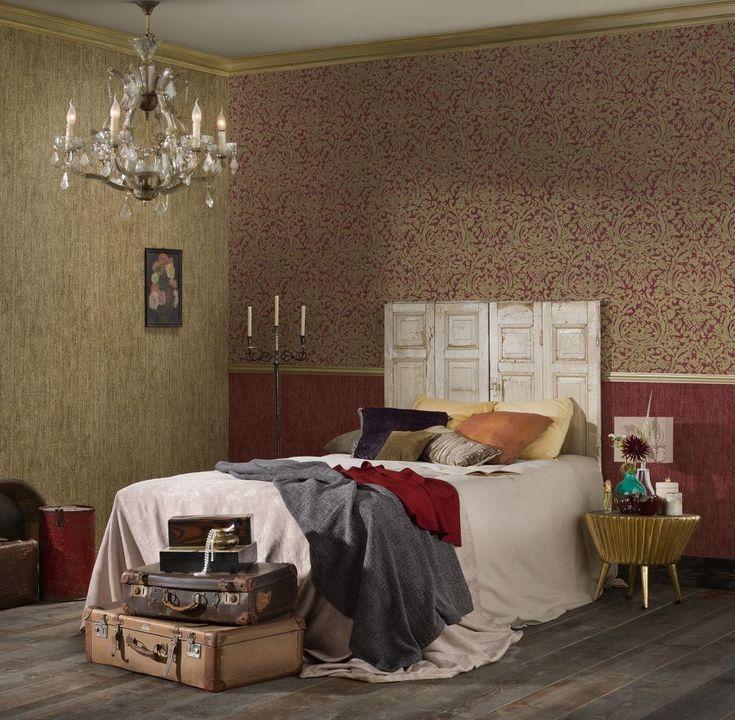 Die besten 25+ Rote tapete Ideen auf Pinterest Tapete rot, Rote - bordeaux schlafzimmer