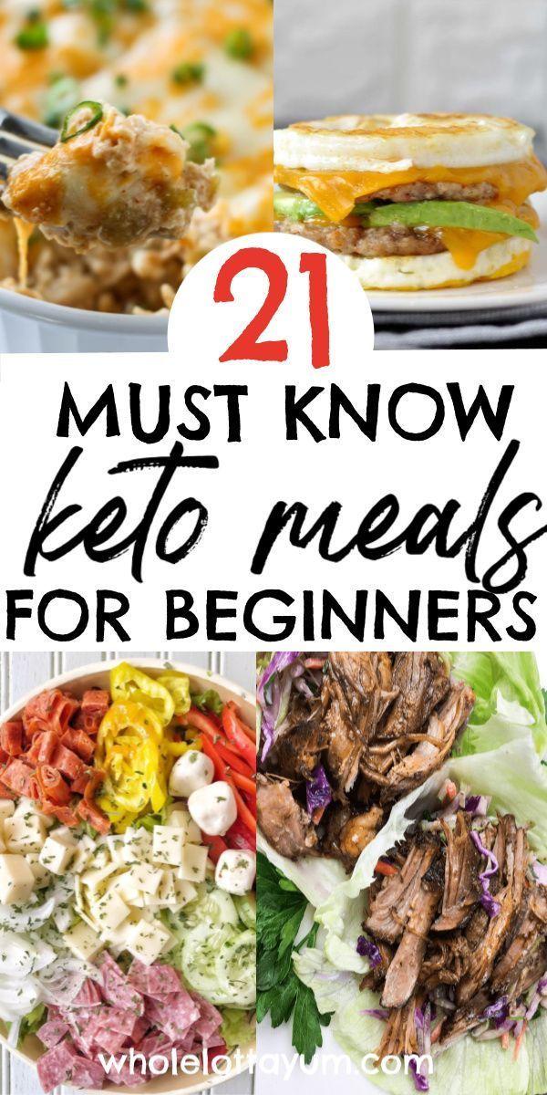 21 Easy Keto Meals For Beginners Keto Meal Plan Ketogenic Diet