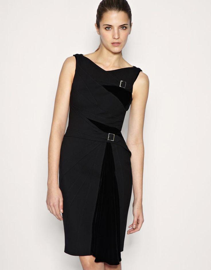 Smart black office dresses