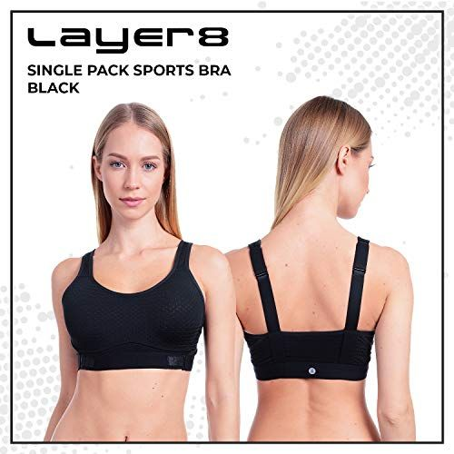 6b0f3e2187 Layer 8 Women s 2 Piece Pack Performance Sports Bra