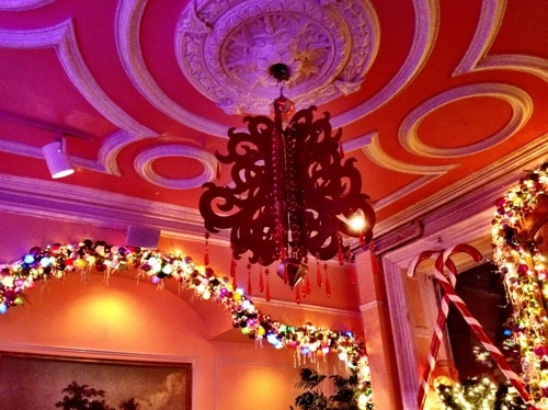 Serendipity restaurant in NYC; so cute and whimsical.  plus, I heard the desserts were to DIE for!