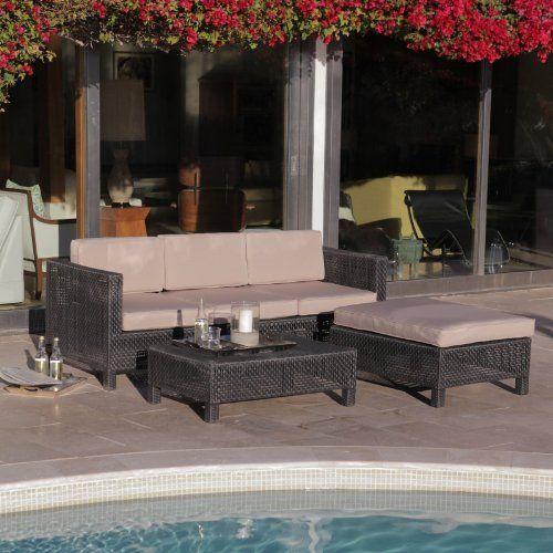 Manhattan 3 Piece All Weather Wicker Conversation Set By Other Brands.  $999.99. Modern Open · Patio Furniture SetsOutdoor FurnitureModern ...