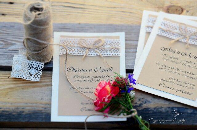 Wedding accessories. Свадебные аксессуары. Аксессуары для свадьбы. Пригласительные в стиле рустик.