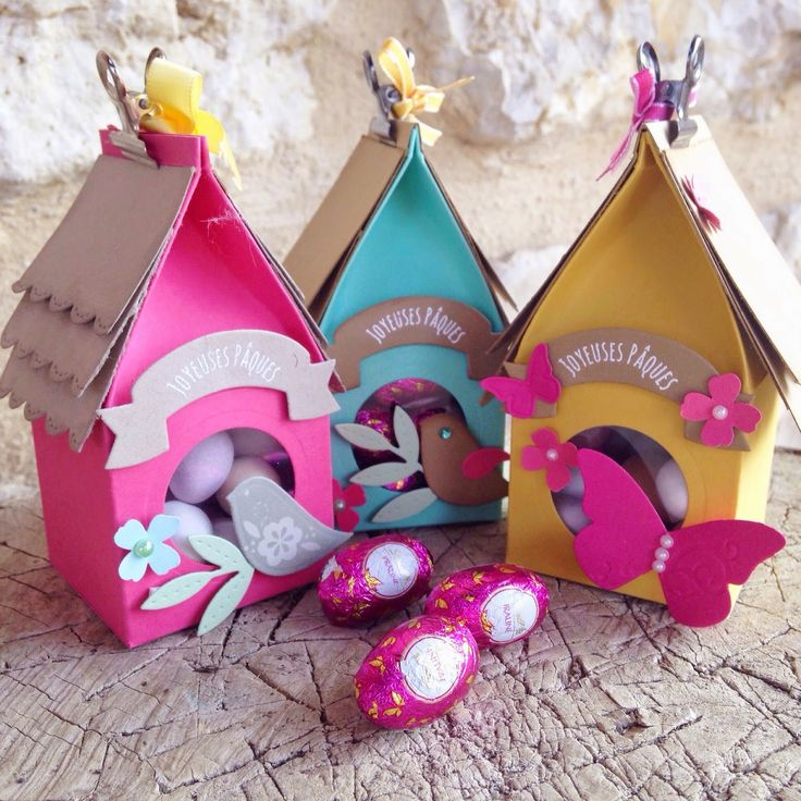 pirouette: easter treat bird boxes | template