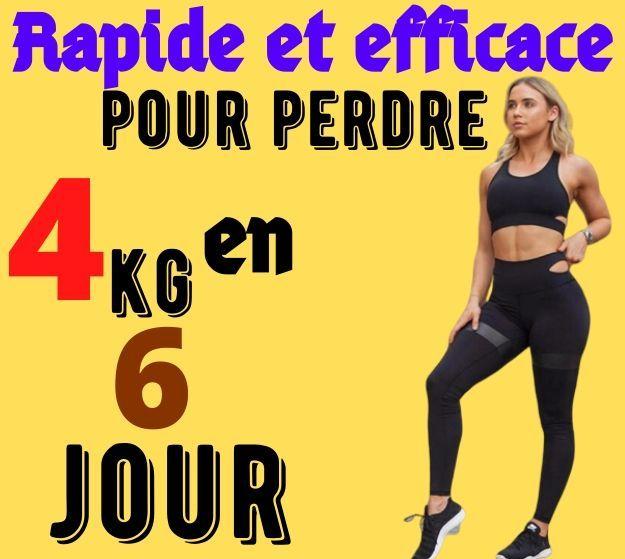 Rapide et efficace pour perdre 4 kilos en 6 jours in 2020 ...