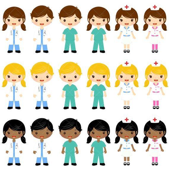 Doctor And Nurse Clipart Cute Doctors And Nurses Clip Art Image 1 Enfermera Sombrero De Enfermera Cosas De Enfermeria