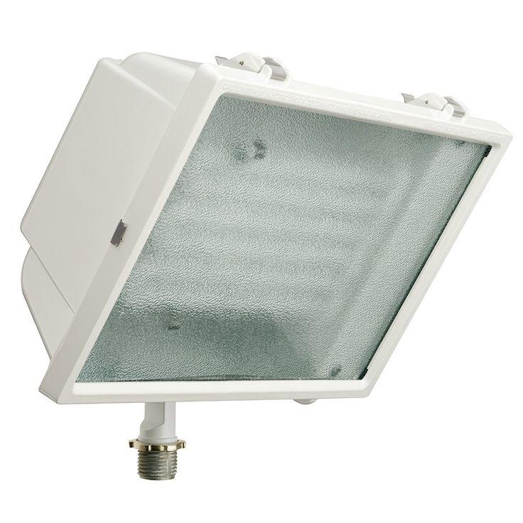 Lithonia Lighting White Metal LED Outdoor Flood Light (144HFR) (Aluminum)