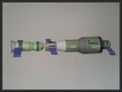 Salyut 1 and Soyuz 11 Space Station Free Paper Model Download | PaperCraftSquare.com
