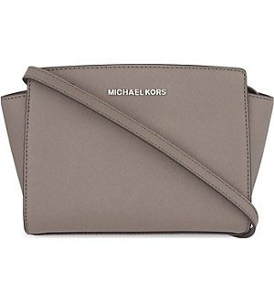 MICHAEL MICHAEL KORS Selma medium Saffiano leather messenger bag (Cinder)