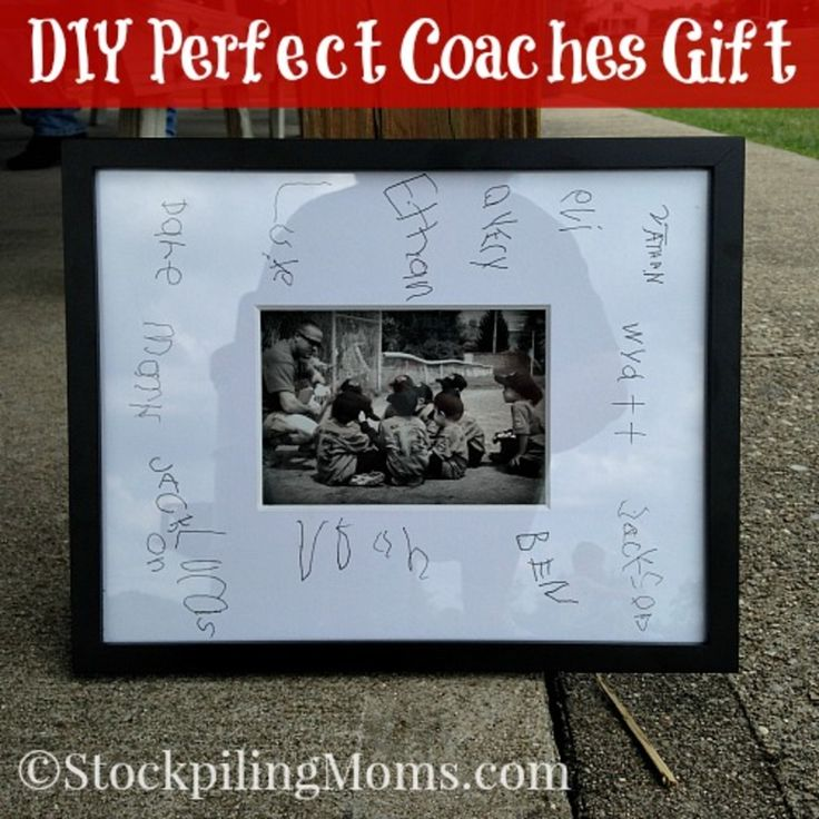 DIY Perfect Coaches Gift that cost less than $20!