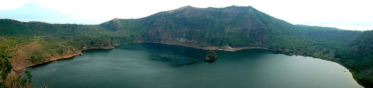 Taal Volcano | Taal volcano crater from two photos I merged together