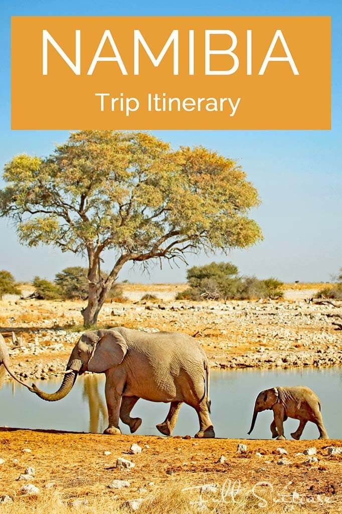 Complete Namibia trip itinerary. See the best of Namibia with this practical day-to-day guide to the most beautiful places in Namibia. Pin for later!