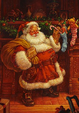 Christmas is a Holy Christian observance that is often celebrated with imaginative, fanciful traditions from folklore and legend.  Santa Claus is a legendary personality, similar to St. Nicholas, Father Christmas. In some cultures the Santa Claus figure is feared because he knows all and sees all...