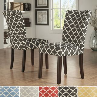 HomePop Coral and Turquoise Paisley Parson Chair (Set of 2) - Overstock Shopping - Great Deals on HomePop Dining Chairs