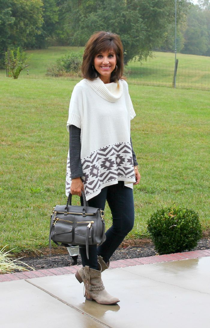 26 Days of Fall Fashion (Day 25) poncho from old navy