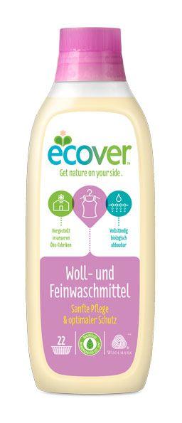 ECOVER Delicate kímélő mosószer gyapjú és selyem ruhákhoz, baba ruhákhoz (természetes, környezetbarát összetevők)