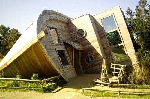 """The Espejo De Luna is one of the craziest hotels you will ever see."" located in Isla Chiloe, Chile"
