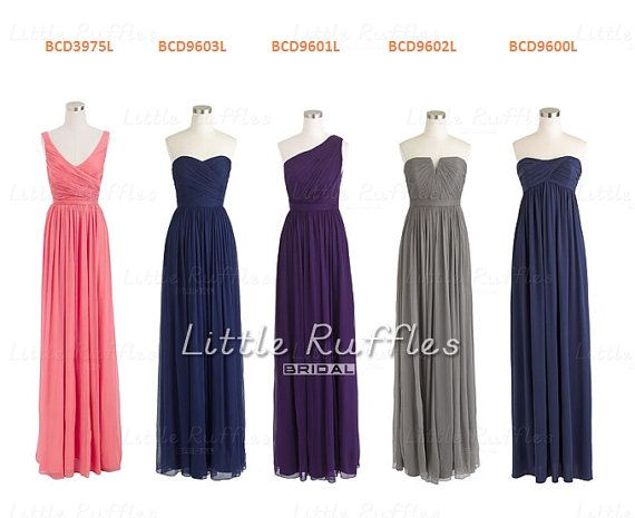 Custom Coral Bridesmaid DressChiffon Dress by LittleRufflesBridal, $107.00