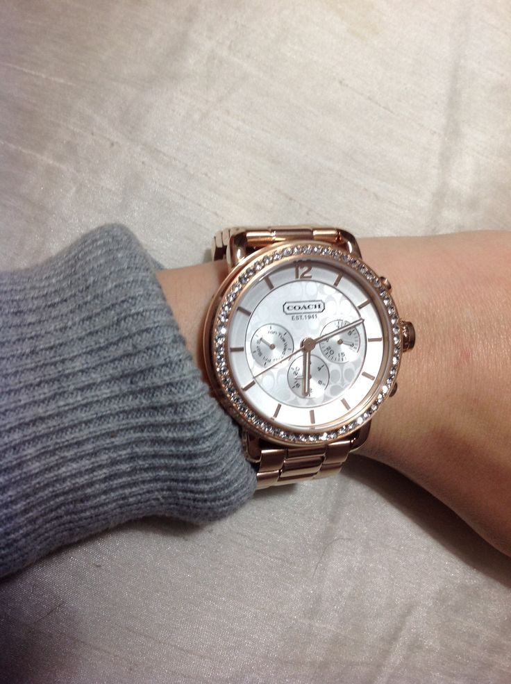Coach rose gold watch fashion is the new hollywood pinterest coach watch watches and coaches for Gold timepieces watch