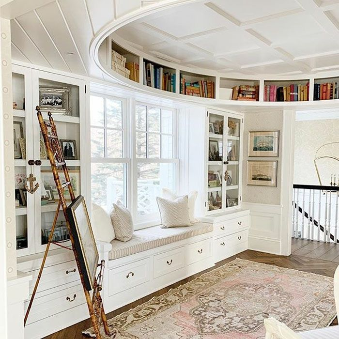 """Gorgeous Built-In """"Oval Office"""" with Exquisite Coffered Ceiling"""