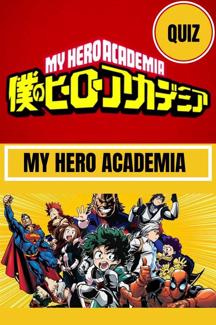 My Hero Academia QUIZ in 2020 My hero, Anime quizzes, My