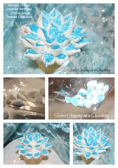 Frozen Birthday Cupcakes - Beautiful and Easy - Sisters Shopping on a Shoestring