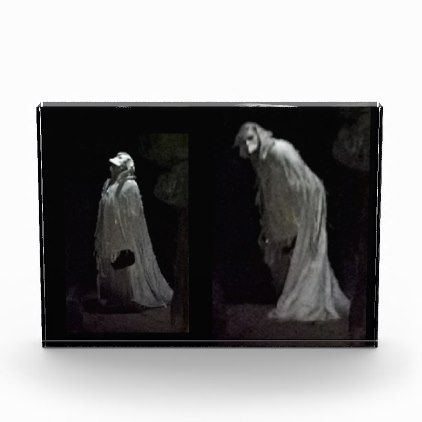 Gothic ghost and ghoul photo block - black gifts unique cool diy customize personalize