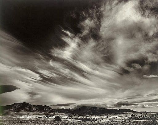 Clouds and Hills, Northern California, 1940s by Ansel Adams