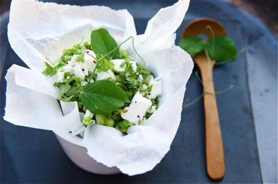 Pea and Feta Crush - The British Larder: Crushes Salad, Salad Recipes, Feta Salad