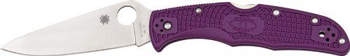 Spyderco Endura4 Lightweight FRN Flat Ground PlainEdge Knife (Purple)