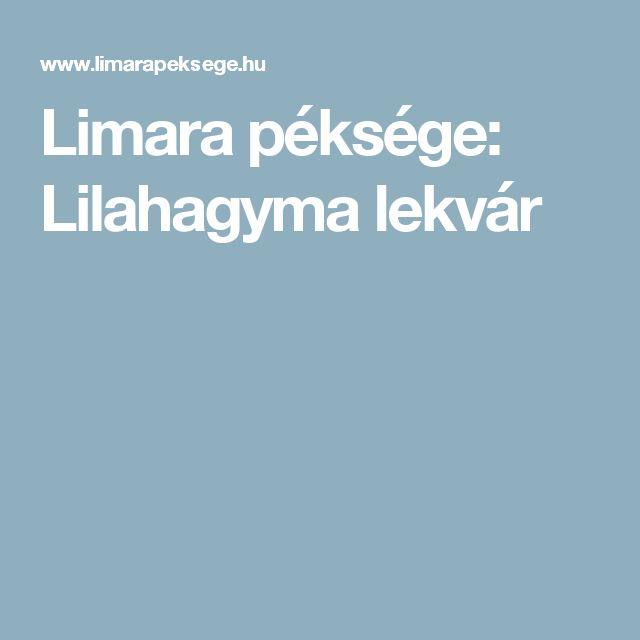 Limara péksége: Lilahagyma lekvár
