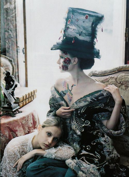 Exactly what I need to run to the market... ZsaZsa Bellagio: Mad Hatters, Masquerade, Ruven Afanador, September 2000, Tops Hats Editorial, Fashion Photography, Fashion Editorial, Ruvenafanador, Editorial Fashion