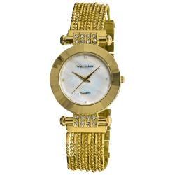 Vernier Women's Gold Tone Elegant Chain Bracelet Watch
