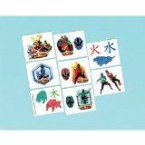 "Power Rangers Samurai Temporary Tattoos Party Favors by LGP. $12.02. Add some style to your outfit and make a fashion statement by applying these temporary tattoos to your skin that feature ""Power Rangers Samurai"". These Power Rangers Samurai Temporary Tattoos makes a great game prize or party favor for your Power Rangers Samurai fans. Full application and removal instructions on back of package. Look for related Power Rangers Samurai party favors (sold separately). Tattoos wash ..."