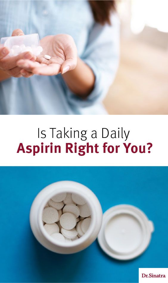 Reasons to not take aspirin
