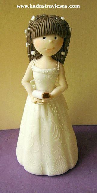 Porcelana Fria - Cold Porcelain - Niña Primera Comunión - Girl First Communion
