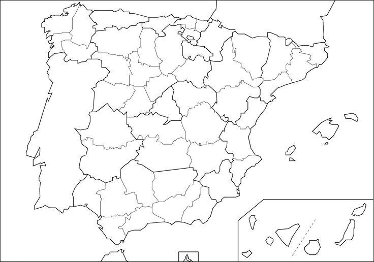 Provincias De España Mapa En Blanco.Francisco Palacios Moreno Pijama53 En Pinterest