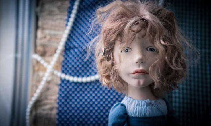 Купить Спросонок - синий, ручная работа, авторская кукла, любить и жаловать, livingdoll, трессы, хлопок