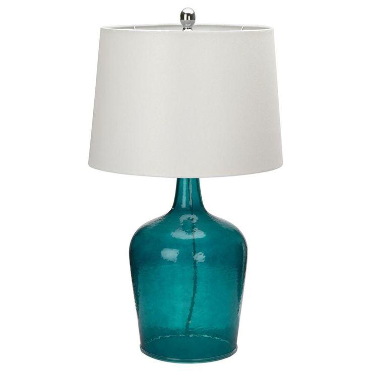 Lampe de table avec base en verre/LAMPES DE TABLE/LUMINAIRES Bouclair.com