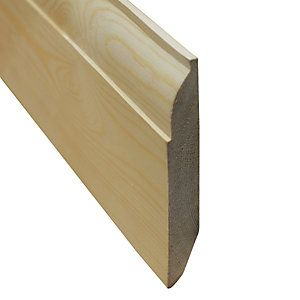 Wickes Dual Purpose Chamfered/Ovolo Pine Skirting 20.5x145x3600mm Pack 2