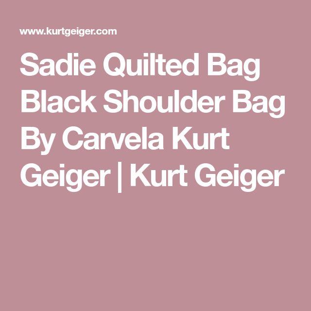 Sadie Quilted Bag Black Shoulder Bag By Carvela Kurt Geiger | Kurt Geiger