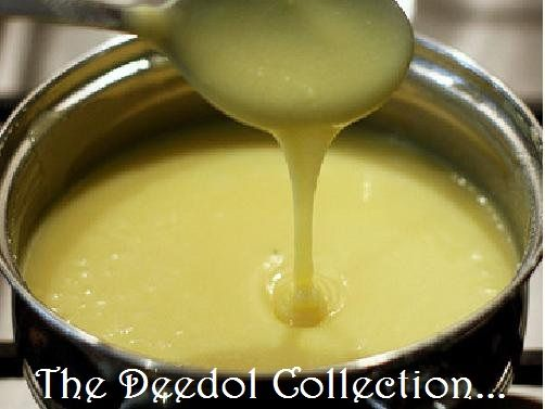 Homemade Sweetened Condensed Milk 1 cup sugar ½ cup water 1/3 cup butter 1/3 cup dry milk In saucepan combine, sugar, water and butter, bring to boil, stirring constantly. Cool slightly. Put in Ble...