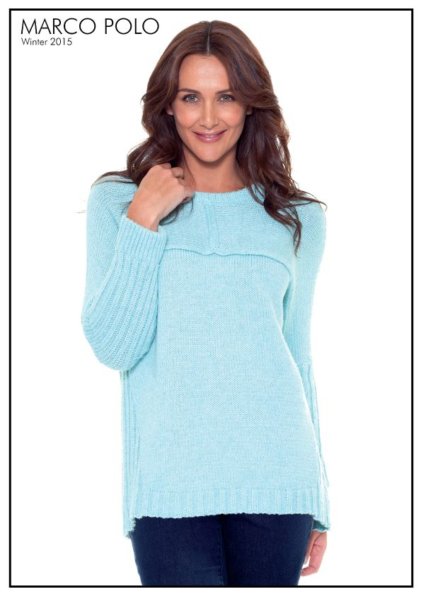 A customer favourite in the colour of the season Duck Egg, the Oversized Panelled Knit Jumper is an easy to wear style, perfect for giving your weekend wardrobe a lift. Style with Pants or leggings for easy winter styling. Please call 03 9902 5100 to locate your nearest stockist or available in DOVE colourway online at http://www.marcopolo.net.au/new/oversized-panelled-knit-dove-mw53088.html (Style Number: YTMW53088)