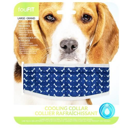 FouFIT Cooling Dog Collar - Blue