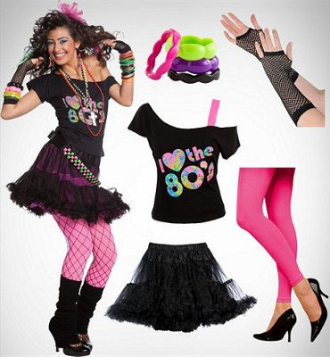 Women's 80s Valley Girl … | Halloween Party in 2019…80s Clothes Ideas