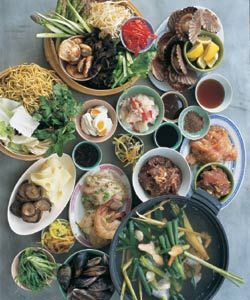 A cup of sencha goes beautifully with steamboat.  Kylie Kwong's steamboat - follow the link!