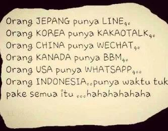 Orang Indonesia multitasking
