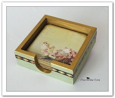 Pracownia Esta decoupage: pudełka