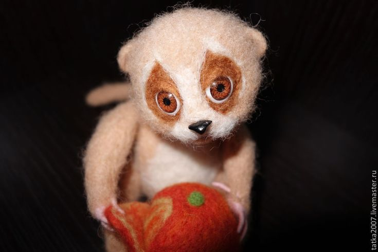 """Купить Валяная игрушка """" Любитель мандаринов"""" в интернет магазине на Ярмарке Мастеров"""