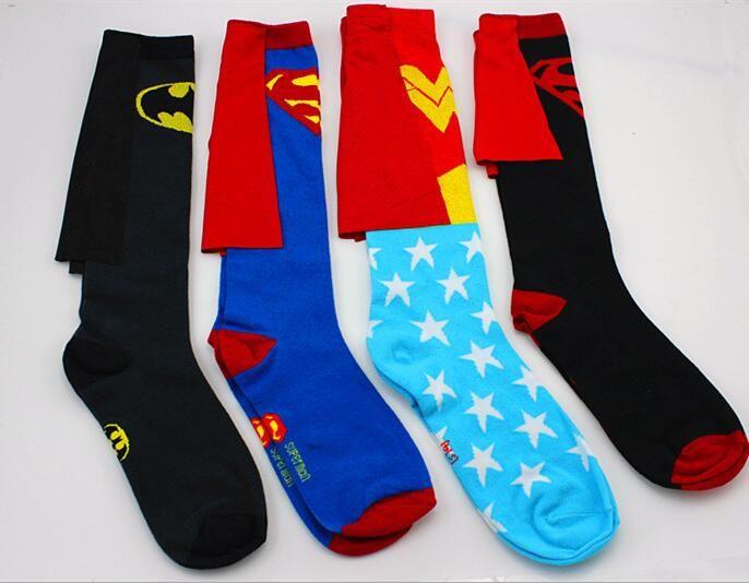 2016 NEW movie Batman VS Superman Wonder Woman cape Superman stockings Personality cloak stockings sexy stockings #Affiliate